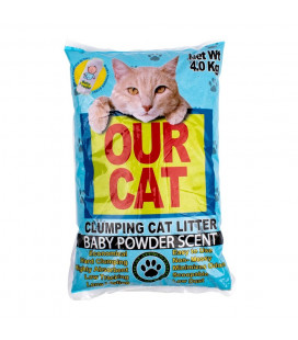 Our Cat Clumping Cat Litter Baby Powder Scent 4kg