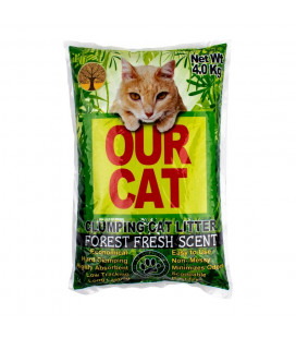Our Cat Clumping Cat Litter Forest Fresh Scent 4kg