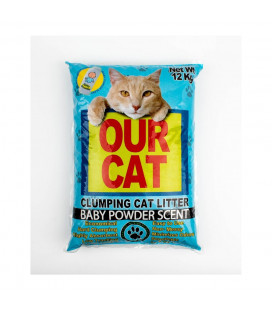Our Cat Clumping Cat Litter Baby Powder Scent 12kg