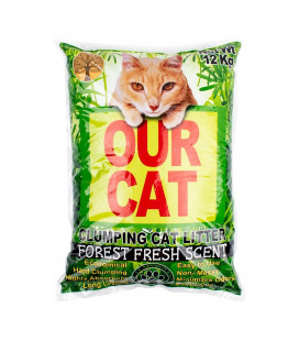 Our Cat Clumping Cat Litter Forest Fresh Scent 12kg