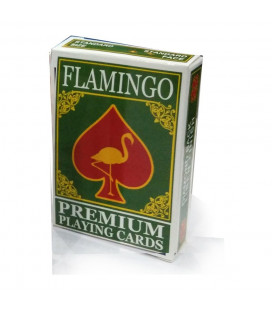 Flamingo Playing Cards Green