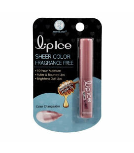 LipIce Sheer Color Fragrance Free Lip Balm (Pink) 2g