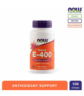 NOW Foods E-400 100mcg Softgels Bottle of 100