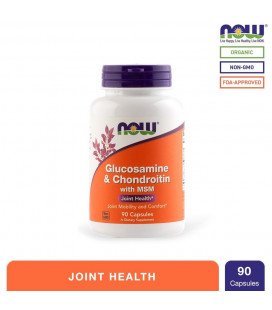 NOW Foods Glucosamine and Chondroitin Capsules Bottle of 90