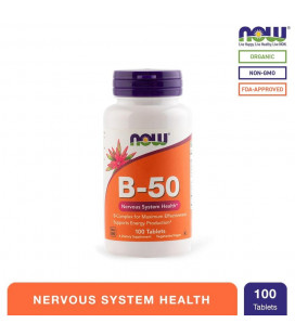 NOW Foods B-50 Nutritional Health Tablets Bottle of 100