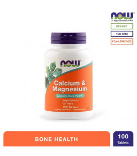 NOW Foods Calcium and Magnesium Tablets Bottle of 100