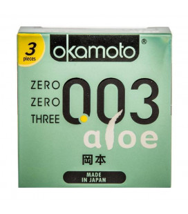 Okamoto 0.03mm super thinnest Aloe japan condom with better sex intimacy love sensitive feeling (1 Box)