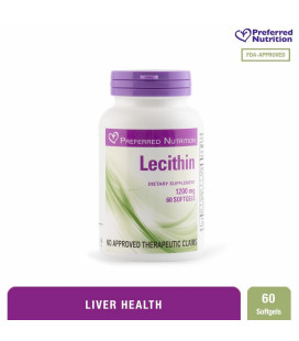 Preferred Nutrition Lecithin 1200 mg 60 Softgels