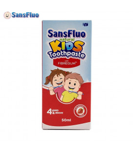 SansFluo Natural Kids Toothpaste Strawberry 50Ml Pink With Fibregum 50Ml