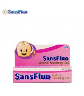 SansFluo Teething Gel 10 G Pink Natural Teething Gel