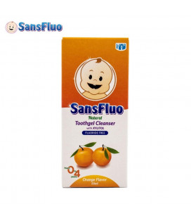 SansFluo Tooth Gel Orange 50 Ml Pink Natural Toothgel Cleanser With Xylitol