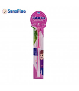 SansFluo Baby Toothbrush Pen Grip Pink