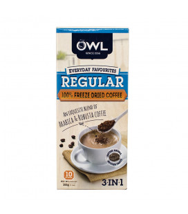 OWL Regular Coffee FREEZE DRIED (10 sticks x 20g) 3-in-1