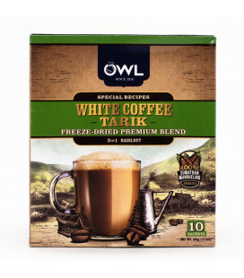 OWL 3-in-1 White Coffee Tarik Hazelnut FREEZE DRIED (10 sticks x 36g)