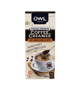 OWL Coffee w/ Creamer FREEZE DRIED (10 sticks x 12g) 2-in-1