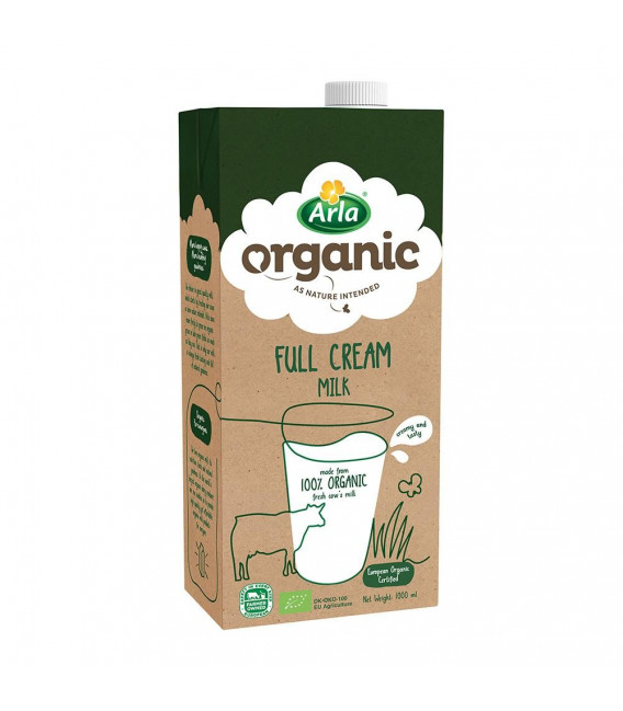Arla Organic Full Cream Milk 1L