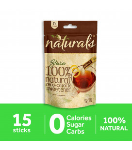 Natural Stevia Zero Calorie Sweetener 15 Sticks
