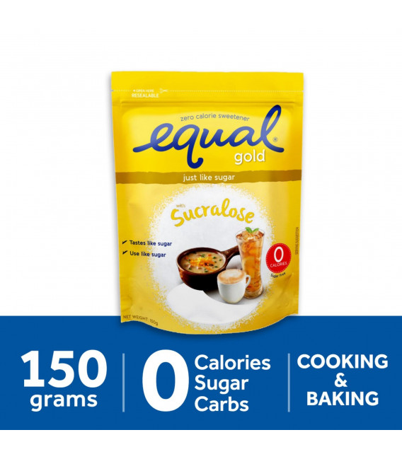 Equal Gold Sugarly Zero Calorie Sweetener 150g Pack