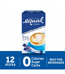 Equal Classic Zero Calorie Sweetener 12 Sticks