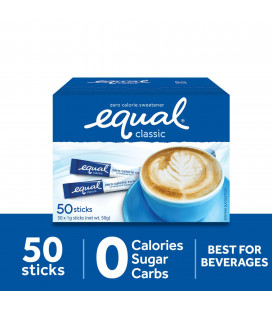 Equal Classic Zero Calorie Sweetener 50 Sticks