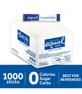 Equal Classic Zero Calorie Sweetener 1000 Sticks