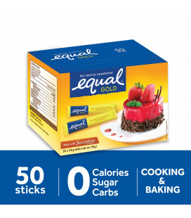 Equal Gold No Calorie Sweetener 50 Sticks