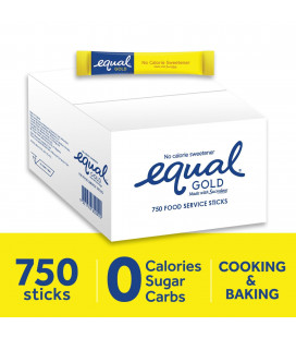 Equal Gold No Calorie Sweetener 750 Sticks