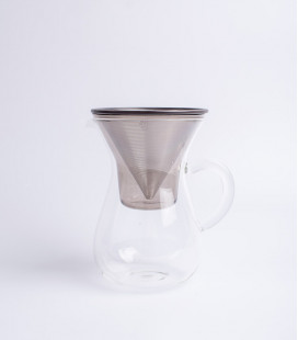 SCS COFFEE CARAFE SET STAINLESS STEEL FILTER