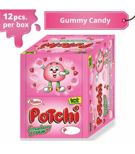 Potchi Strawberry Cream Gummy Candy (Snack Pack)