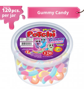Potchi Gummy Worms Candy Jar
