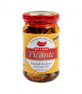 Picante Spanish Sardines in corn oil. Hot & spicy 230g