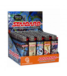 Standard Disposable Lighter 50 pieces (Graffiti GRA-100)