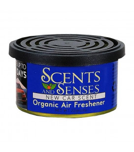 Scents & Senses Organinc Air Freshner New Car Scent net wt.45g