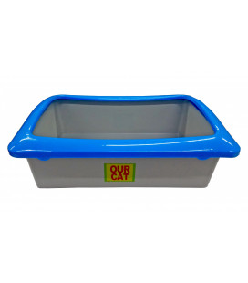 Cat Litter Tray Rectangle 42x30x14cm